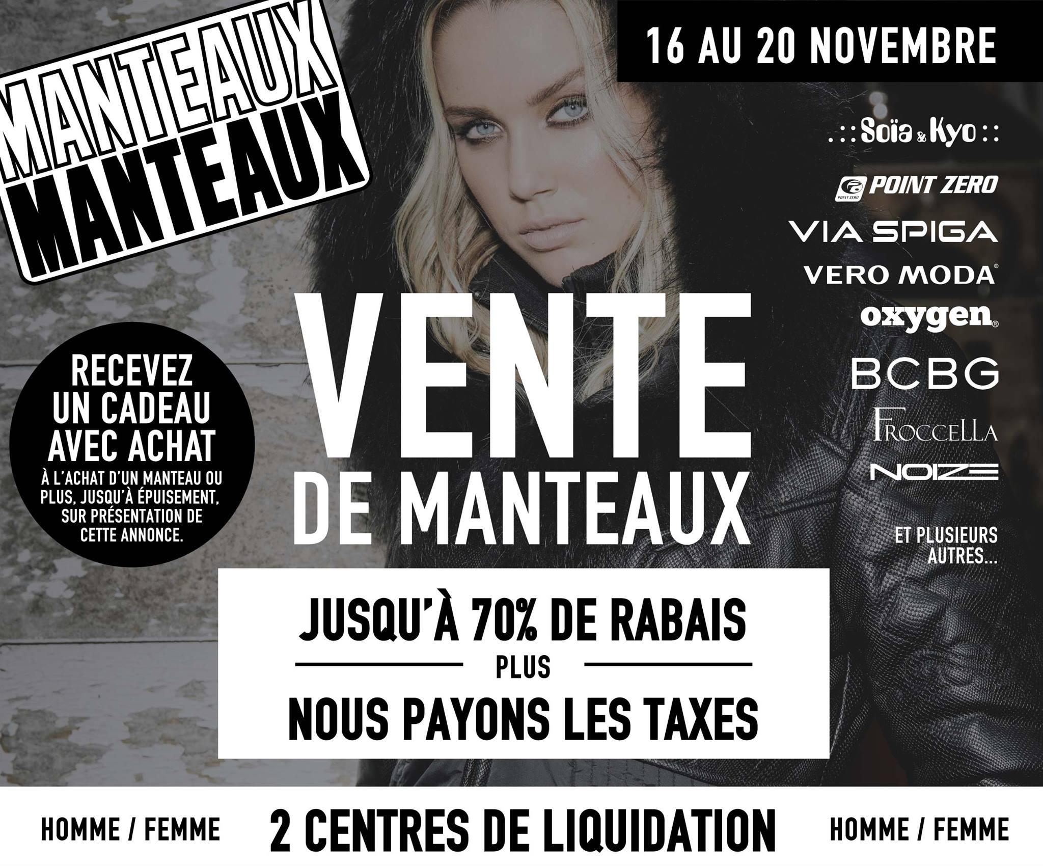 Vente d 39 entrep t manteaux manteaux for Liquidation entrepot